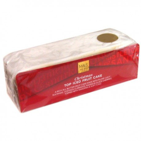Marks & Spencer Iced Slab Christmas Cake