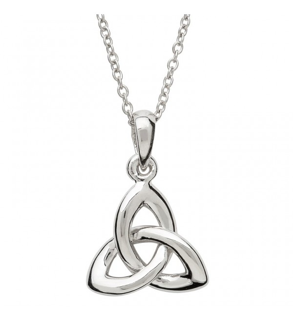 trinity white pendant knot diamonds celtic with necklace gold