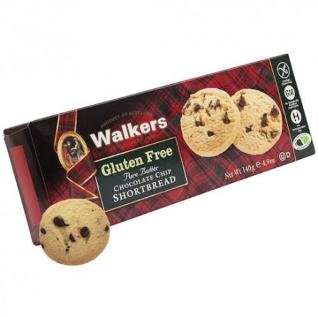 Walkers GF Chocolate Chip Shortbread - 140g