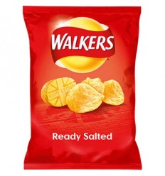 Walkers Ready Salted Crisps - 32.5g