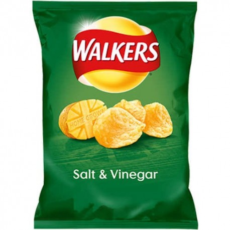 Walkers Salt & Vinegar Crisps - 32.5g