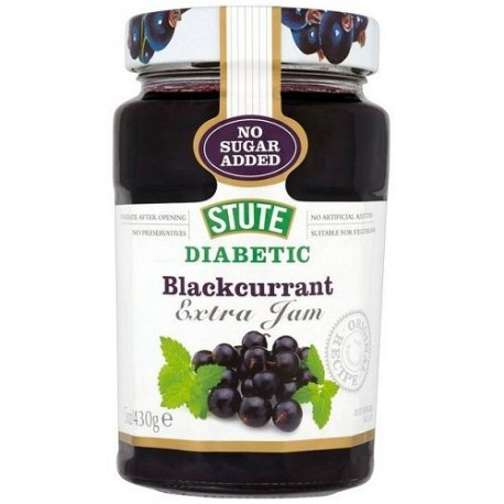 Stute Diabetic Blackcurrant Jam - 430g
