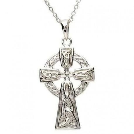 Shanore Trinity Knot Celtic Cross Pendant