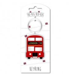 London Big Red Bus Acrylic Keyring