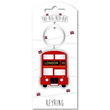 London Big Red Bus Keyring