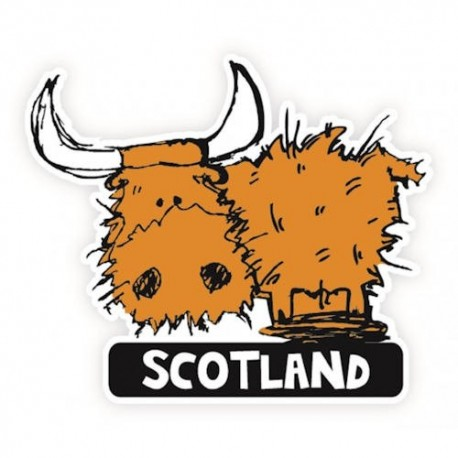 Scotland Highland Cow Sticker