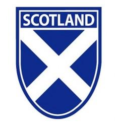 Scotland Saltire Shield Sticker