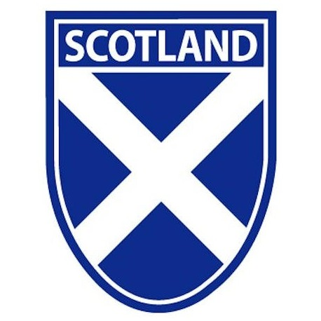 Scotland Saltire Shield Sticker