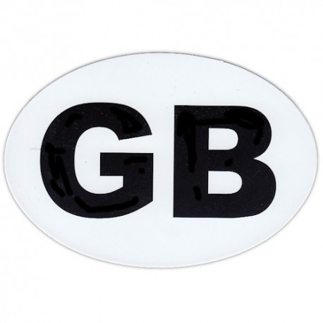 Great Britain Country Code Oval Sticker