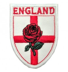 England St George Cross & Rose Shield Patch