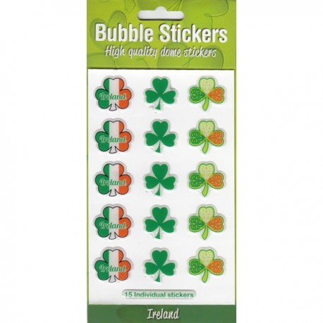 Multi Shamrock Bubble Stickers
