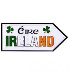 Ireland Tricolor Mini Metal Road Sign