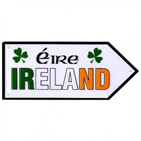 Ireland Map Mini Metal Road Sign