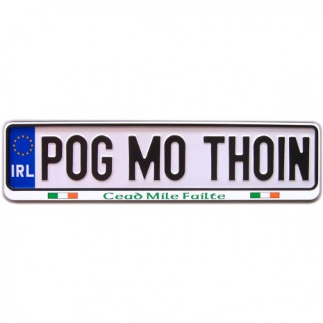 Pog Mo Thoin Irish Car Registration Plate