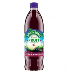 Robinsons NAS Apple & Blackcurrant Squash - 1L