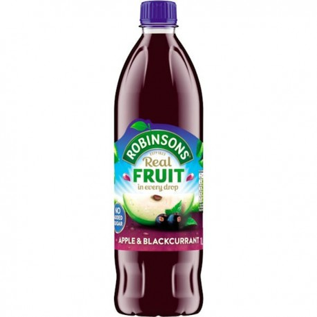 Robinsons NAS Apple -& Blackcurrant Squash - 900ml