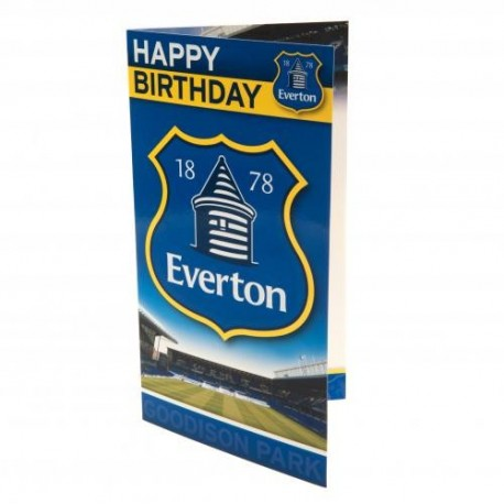 Everton FC Birthday Card
