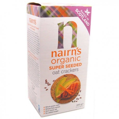 Nairn Super Seeded Organic Oat Crackers