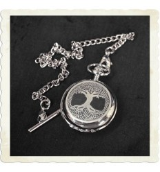 Celtic Tree of Life Mechanical Pocket Watch