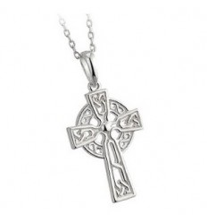 Solvar Celtic Cross Trinity Filigree Pendant