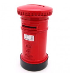 British Post Box Die Cast Money Bank
