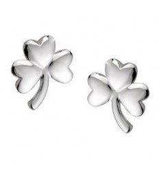 Solvar Shamrock Silver Stud Earrings