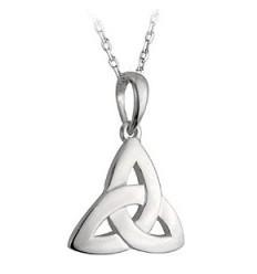 Solvar Flat Trinity Knot Silver Pendant