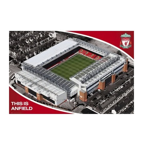 Liverpool FC Folded Poster - Anfield