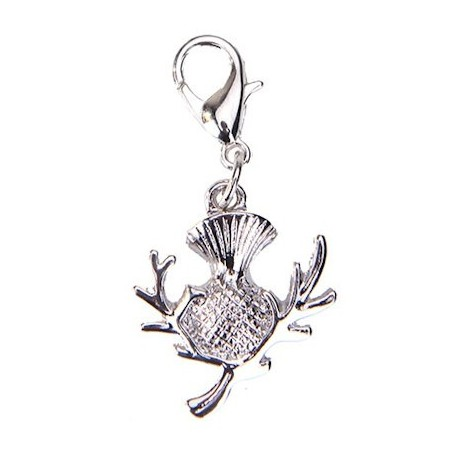 Scottish Thistle Clip Charm