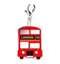 London Double Decker Bus Clip Charm