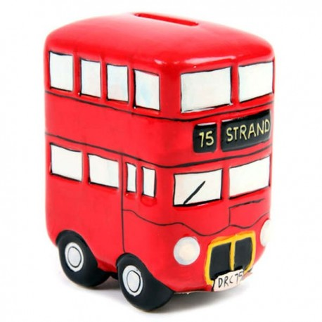 London Double Decker Bus Money Bank