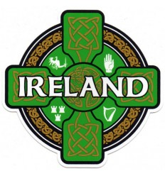 Ireland Celtic Cross Sticker