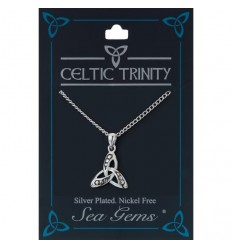 Sea Gems Plated Celtic Trinity Pendant