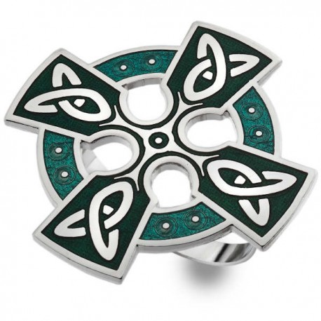 Sea Gems Celtic Cross Scarf Ring