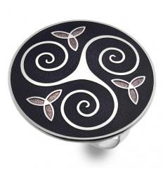 Sea Gems Celtic Triskele Scarf Ring