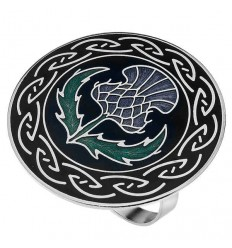 Sea Gems Celtic Thistle Scarf Ring