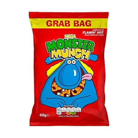 Walkers Flamin' Hot Monster Munch - 40g