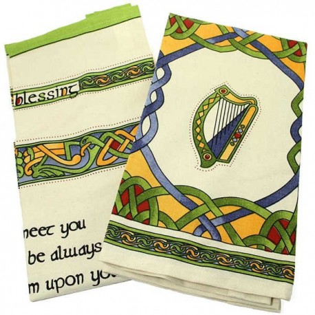 Irish Weave Tea Towel Set