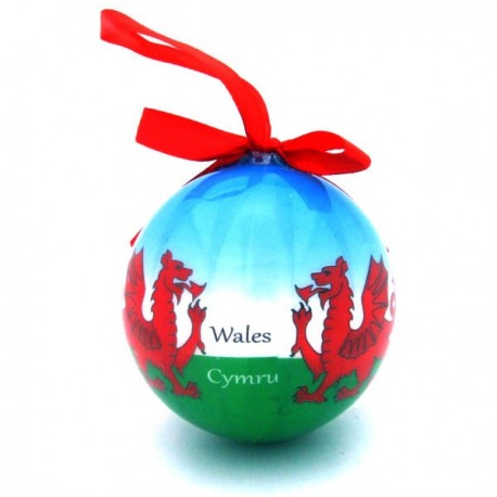 Wales Dragon Christmas Bauble