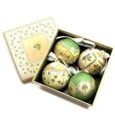 Irish Shamrocks Christmas Baubles Box Set
