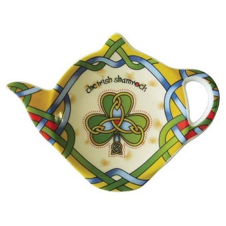 Irish Weave Shamrock Tea Bag Holder