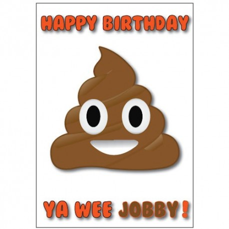 Scottish Jobby Birthday Card