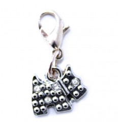 Scottie Dog Diamante Clip Charm