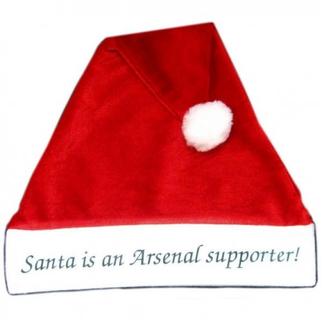 Arsenal FC Supporter Santa Hat