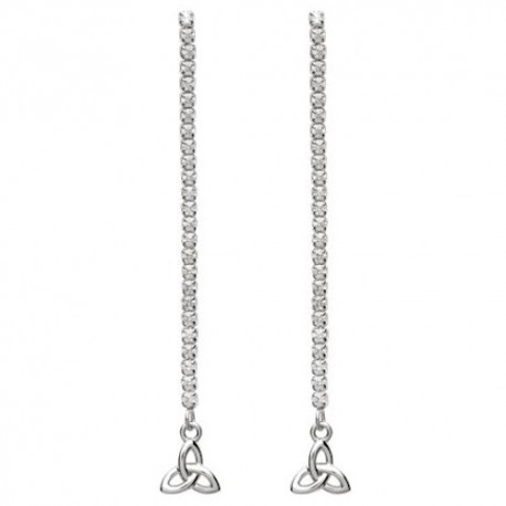 ShanOre Trinity Knot Dangle Drop Earrings