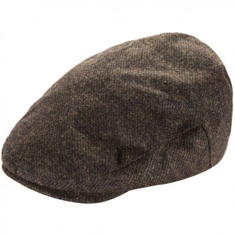Heritage Mens Flat Cap - Brown Check