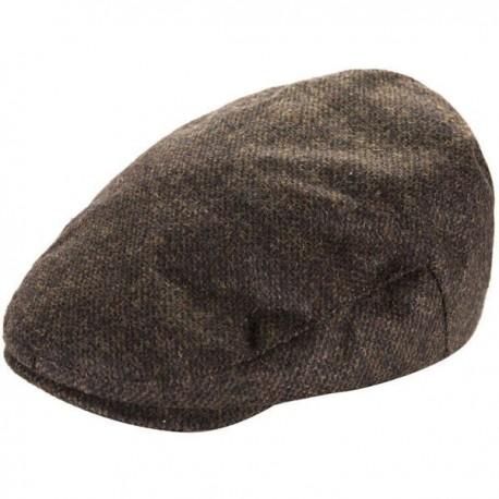 Heritage Mens Flat Cap - Brown Check