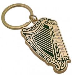 Ireland Harp Metal Keyring