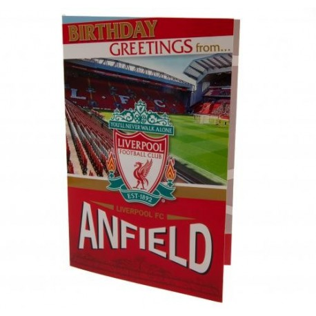 Liverpool FC Anfield Pop Up Birthday Card