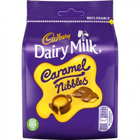 Cadbury Caramel Nibbles Treat Pouch - 95g
